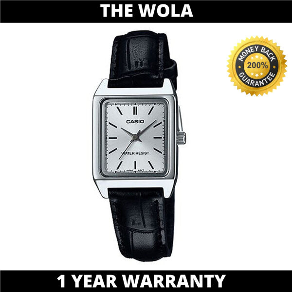 Casio Womens Analog LTP-V007L-7E1UDF Black Leather Band Casual Watch (watch for women / jam tangan wanita / Casio watch for women / Casio watch / women watch) Malaysia