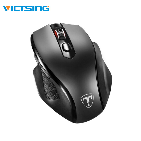 [for Large Hands]VicTsing Full Size Wireless Mouse with Nano USB Receiver, 5 Adjustable CPI Levels, 6 Buttons for Notebook, PC, Laptop, Computer