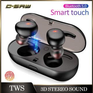 C-SAW Y30 TWS Bluetooth Không Dây Tai Nghe Thể Thao Cầm Tay Trong-Tai Giảm Tiếng Ồn Bluetooth 5.0 Cảm Ứng Earbuds 3D Tai Nghe Âm Thanh Nổi Với Microphone thumbnail