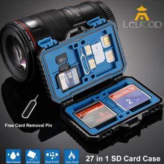 LEVTOP 27 trong 1 Đầu Đọc Thẻ Thẻ Nhớ Chống Thấm Nước Đựng Hộp Bảo Quản Túi 3.0 Android Thẻ TF SD loại C Nhớ Túi Memory Card Case SD Card Storage Box Waterproof 27 in 1 thumbnail