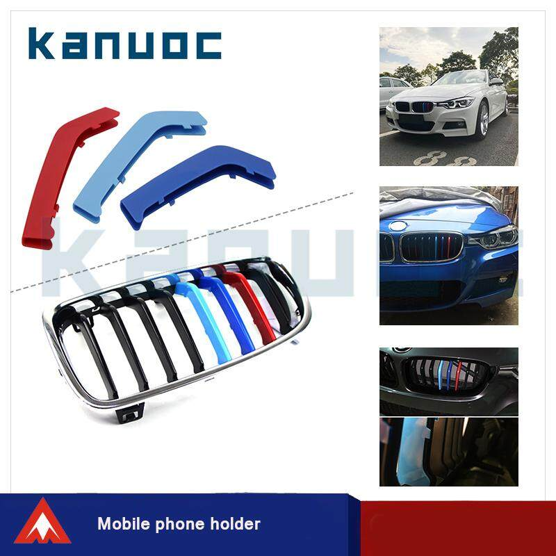 3color Car Styling Front Grille Strip Insert Trims Stickers Cover For Bmw 3 Series With 8 Bar (3pcs/set) By Contacts Leather Brand Flagship Store.