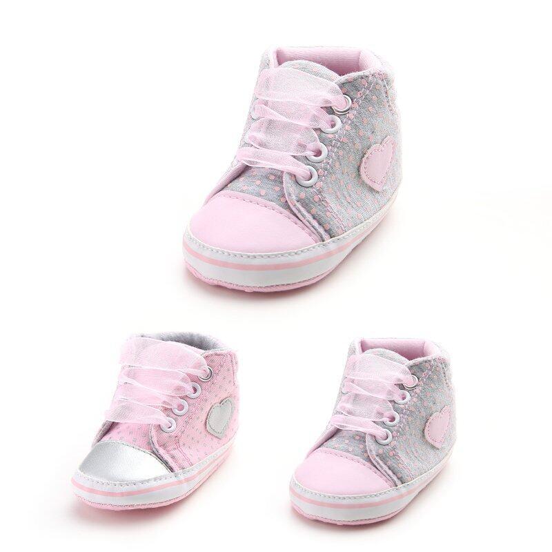 Giá bán Bé Sơ Sinh Bé Gái Công Chúa Thời Trang Cổ Điển Thường Ngày Cho Trẻ Sơ Sinh Cho Bé Chấm Bi Mùa Xuân, Mùa Thu Dây Buộc Đầu Tiên Xe Tập Đi Giày Sneakers