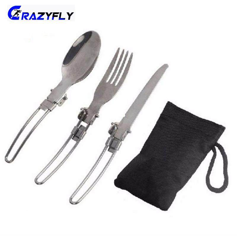Sports & Entertainment 3pcs 5 In 1 Outdoor Tableware Spork Camping Picnic Stainless Steel Spoon Fork Bottle Can Opener Tool Outdoor Tablewares