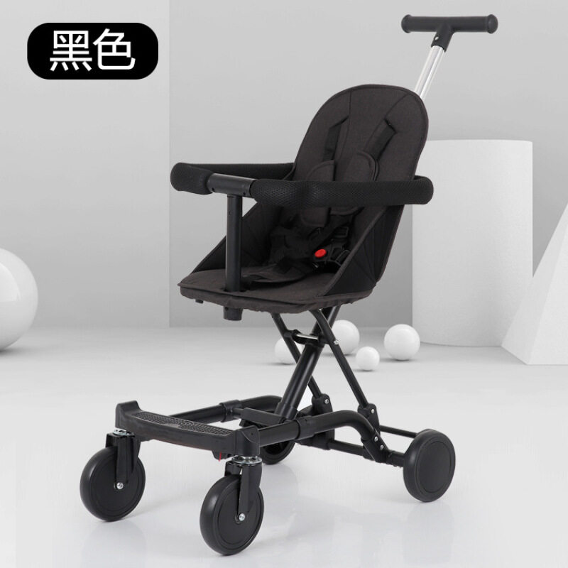 One button foldable baby stroller with baby music Singapore