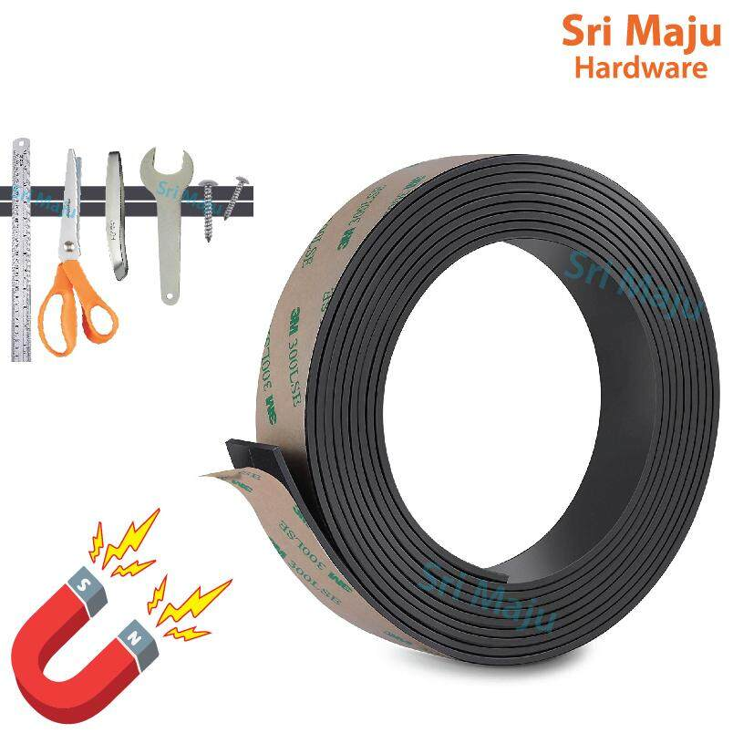 MAJU Self Adhesive Flexible Magnetic Strip Tape Roll with 3M Double Side Tape