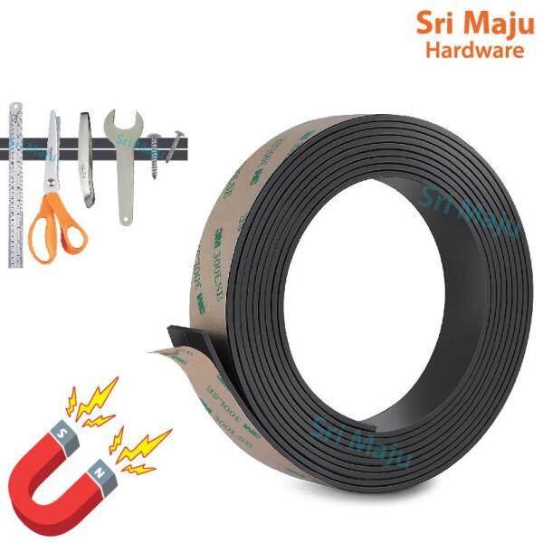 MAJU 208 Self Adhesive Flexible Magnetic Bar Strip Tape Roll with 3M Double Side Tape Jaring Nyamuk Tingkap