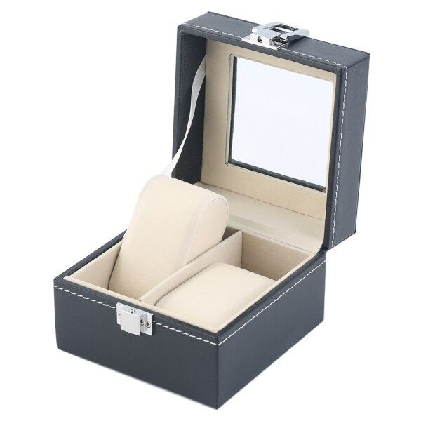 2 Grids PU Leather Watch box Jewelry Bracelet Display Storage watch box Case luxury Gift caixa para relogio Malaysia