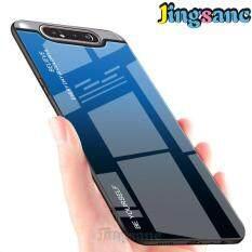 Jingsanc Dành Cho Samsung Galaxy Samsung Galaxy A80 Ốp Lưng Điện Thoại Thời Trang Rainbow Gradient Kính Nhiều Màu Sắc Ốp Lưng Scratchproof Mềm Viền TPU Vỏ Bao Da