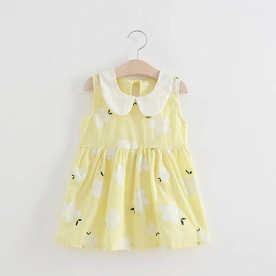 65d866f45578e Hot Deals Cute Baby Girl Sleeveless Sakura Floral Printed Princess Party  Dress Sundress