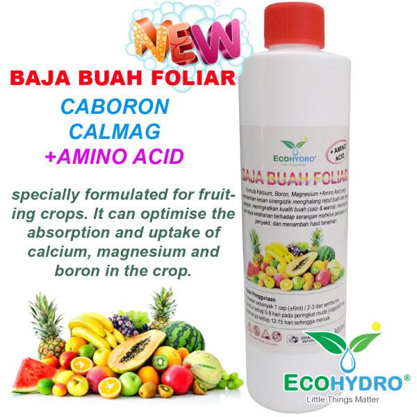 Baja Buah semburan foliar 300ml banyak buah dan kualiti buah. caboron calmag amino acid asid magnesium calcium kalsium