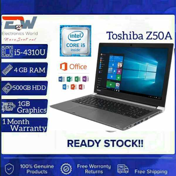 Grade A Certified Toshiba Z50A, 15.6 inches Laptop with Intel Core i5-4th Gen, 4GB RAM - 500 GB HDD /LTE SIM SUPPORT/ 1 GB Graphics card/ Windows 10 Pro (Refurbished) Malaysia