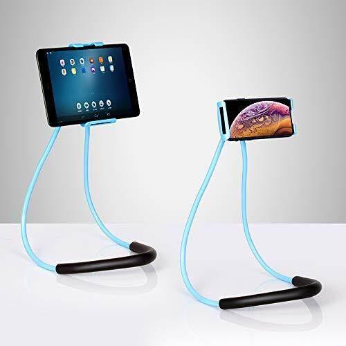 Cell Phone Holder Lazy Tablet Bracket Universal Phone Neck Holder Stand For Iphone, Adjustable Rotating Gooseneck Mount With Multiple Function For Bed & Desk & Bike & Car.