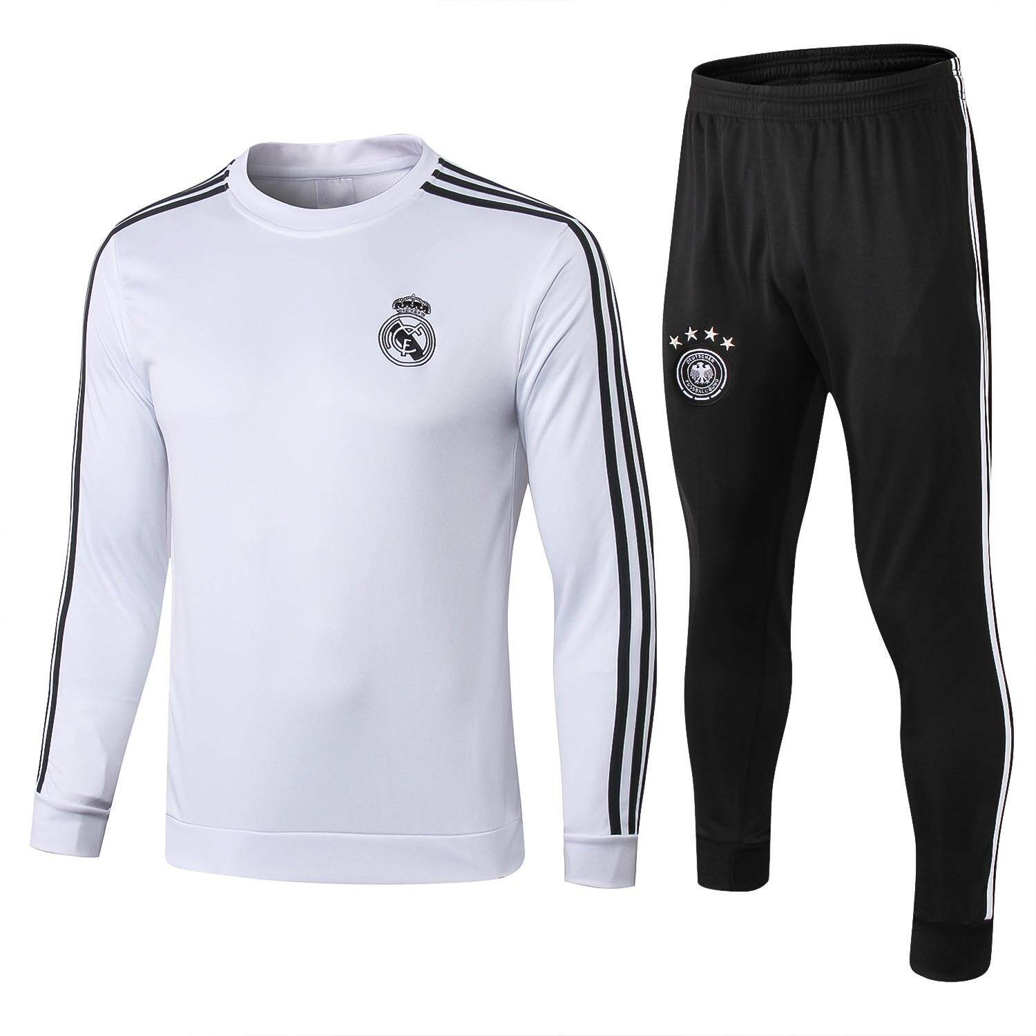 Top Quality Real Madrid Long Sleeve Jersey Training Suit T-shirt and Pants Suit