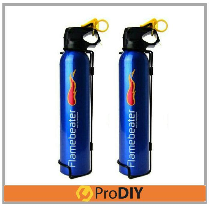 2 Pack 0.5Kg Firebeater Auto Fire Extinguisher Portable Car Home (Blue)
