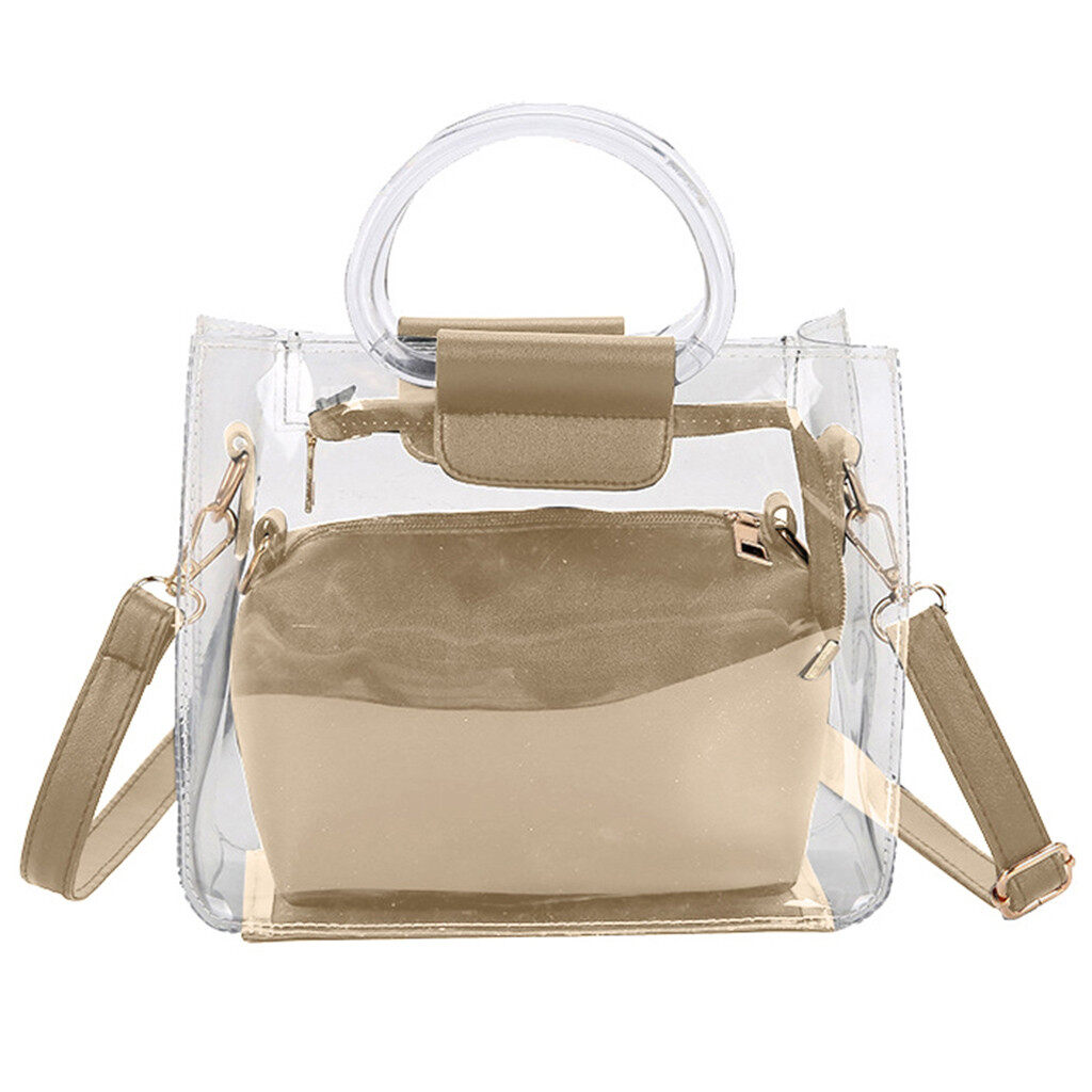 Transparent small bag new womens bag two-piece bag European and American tide jelly shoulder messenger bag