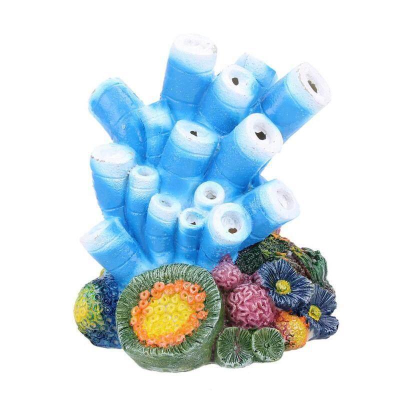 Aquarium Decor Air Bubble Stone Blue Coral Starfish Oxygen Pump Resin Crafts For Aquarium Fish Tank