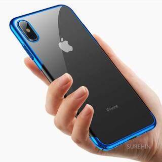 Ốp Trong Suốt Sang Trọng Cho Apple iPhone 11 Pro Max XS MAS XR X 8 7 6 S Plus Vỏ Silicon Trong Suốt Vỏ Hoa Hồng Đen Vàng Nhựa TPU Mềm thumbnail
