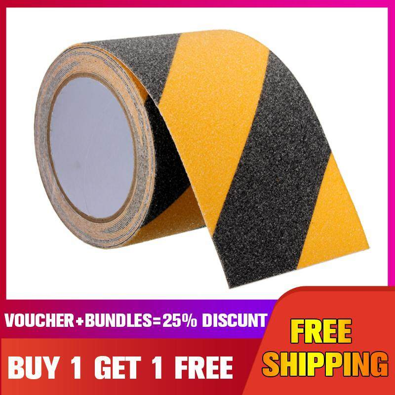 【Buy one get one free】5m*10cm Floor Stair Step Anti Slip Tape High Grip Adhesive Sticky Non Slip Safe -- Black and yellow