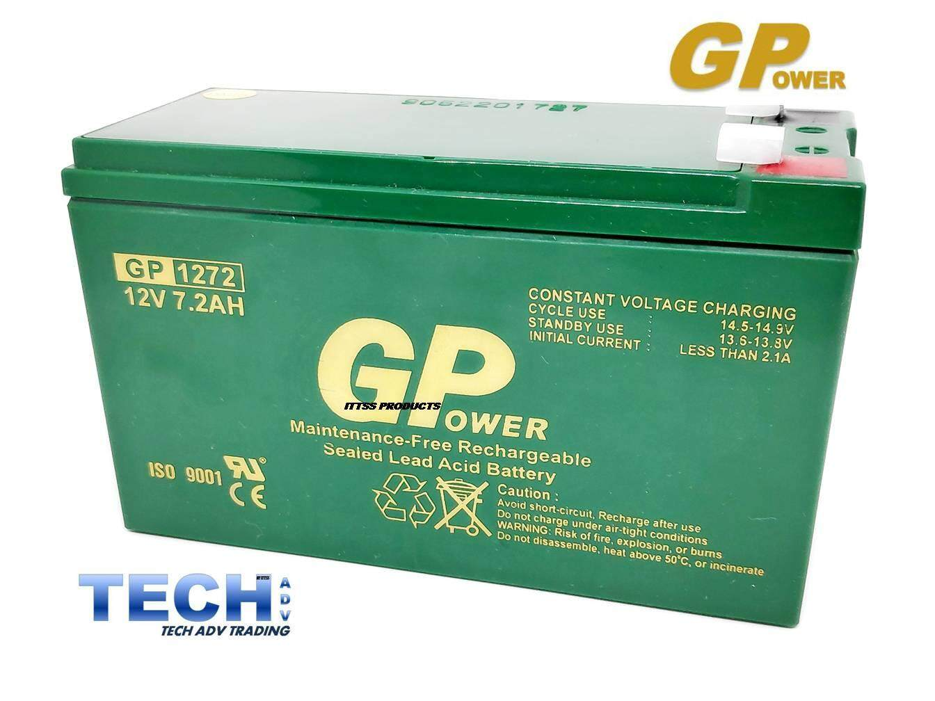 GP - GPOWER 12V 7AH PREMIUM Rechargeable Sealed Lead Acid Battery For Electric Scooter/ Toys car / Bike /Solar /Alarm /Autogate (rename (upgraded) to GPOWER 12V 7.2AH) Malaysia