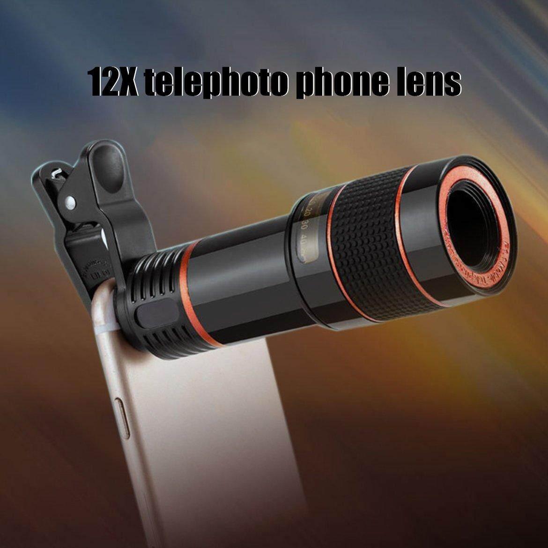 Best Seller Mobile Phone Camera Lens 12X Zoom Telephoto Lens External Telescope Clip