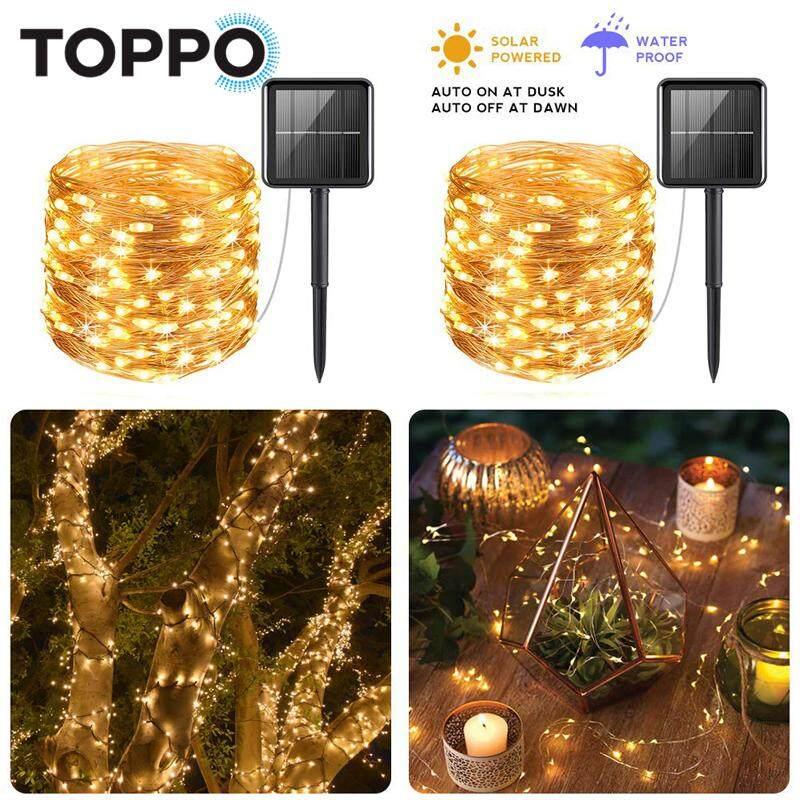 LED Solar Power Copper Wire Light Fairy String Light Indoor Outdoor Waterproof