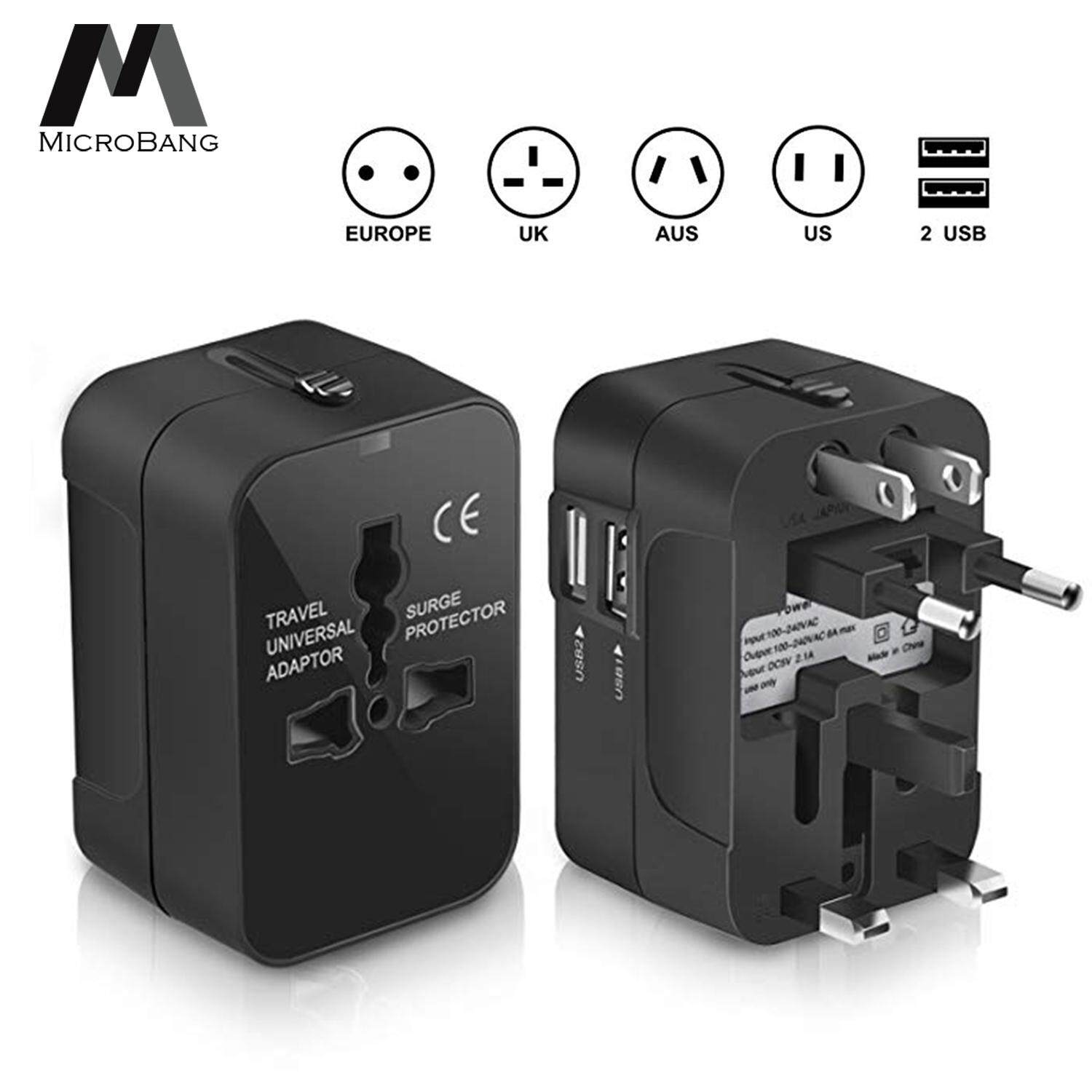 MicroBang Multi-Outlets Travel Adapter, All in One International Universal Wall Power Travel Adaptor
