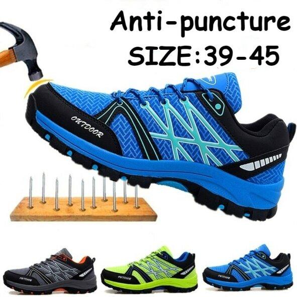 Giày Đi Bộ Đường Dài Thời Trang Nam, Giày Lao Động Chống Đâm Thủng Ngoài Trời Giản Dị Giày, Giày Lưới Thoáng Khí Chống Trượt Giày Du Lịch Cho Nam giá rẻ