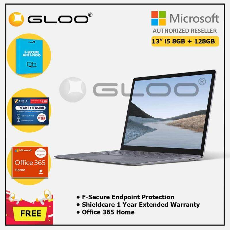 Microsoft Surface Laptop 3 13  Core i5/8GB RAM - 128GB Platinum - VGY-00016 + Shieldcare 1 Year Extended Warranty + F-Secure Endpoint Protection + Office 365 Home (ESD) Malaysia