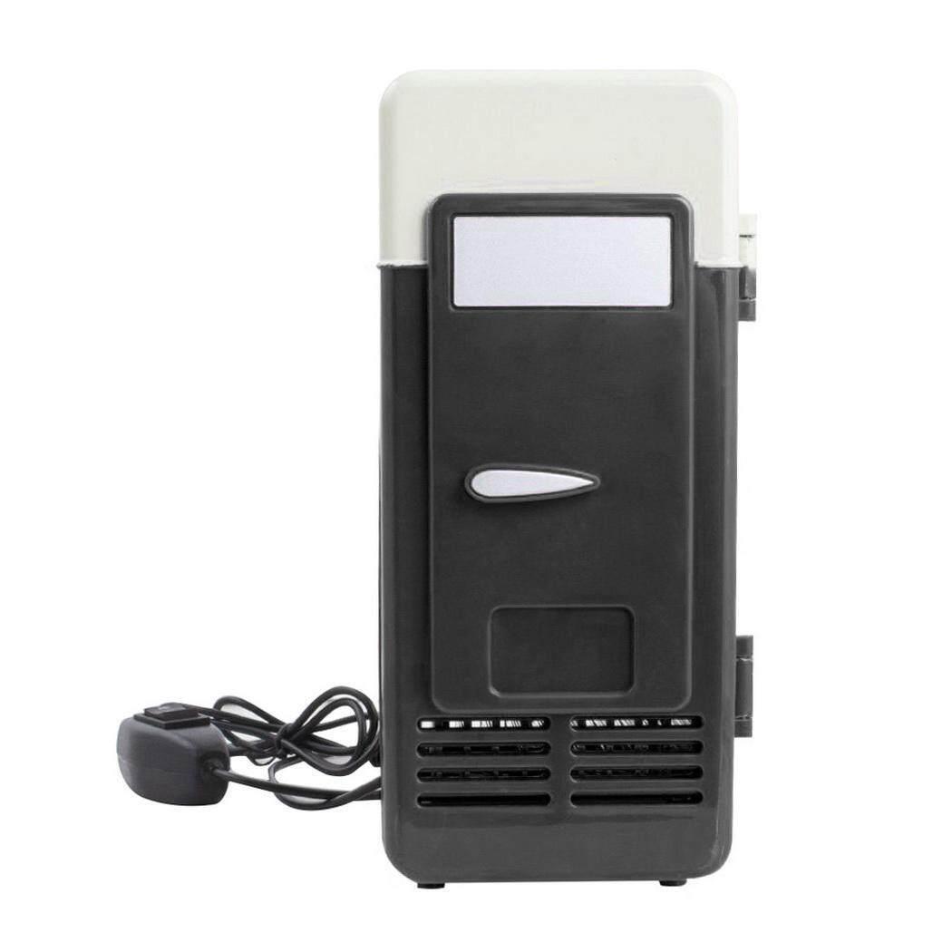 Yang Paling Populer Desktop Portabel Mobil USB Mini Kulkas Minuman Dingin Hangat Lampu LED Kulkas