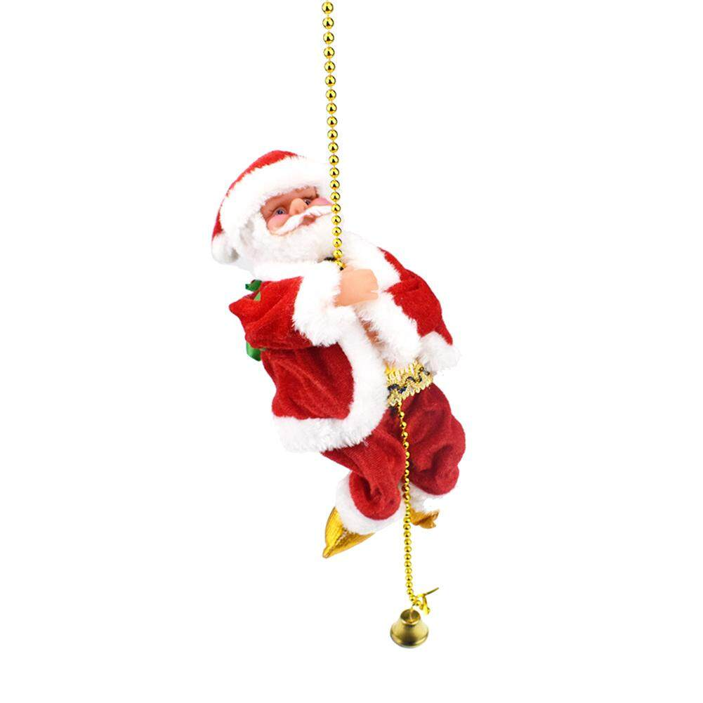 Laputa Christmas Santa Claus Climbing Bead Rope Electronic Toy Music Doll Kids Gift