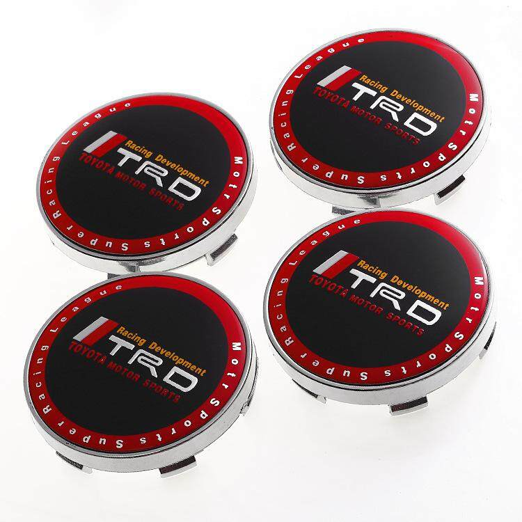 4Pcs 60MM Emblem Wheel Center Hub Caps Dust-proof Badge Logo Covers Car  Styling Auto Accessories For TOYOTA TRD