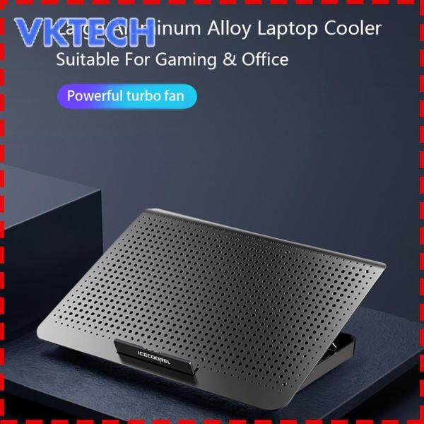 [Vktech] Laptop Cooling Pad with Wind Adjustment Knob 7 Height Levels Aluminum Laptop Cooler Stand Riser Malaysia