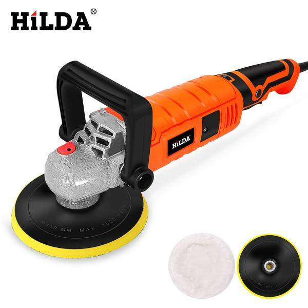 HILDA 1200W Car Polisher Variable Speed 3000rpm Car Paint Care Tool Polishing Machine Sander 220V M14 Electric Floor Polisher