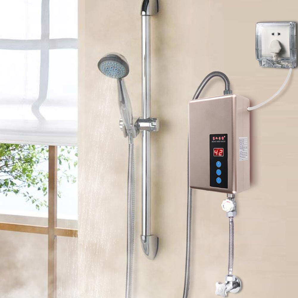 MeetBeauty  220V 5.5KW Mini Instant Water Heater Tankless Shower Hot Water System Kitchen