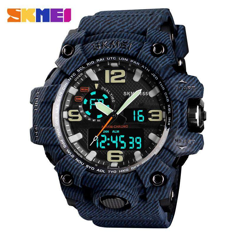 Best selling SKMEI 1155 Mens Watch Mens Waterproof Sports Watch Top Brand Luxury Clock Dual Display Multifunction Mens Digital Watch Relogio Masculino Malaysia