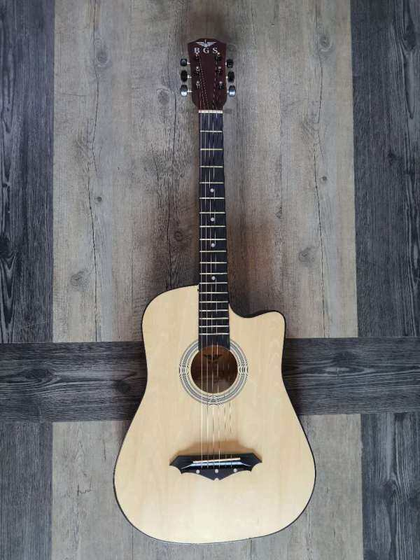 BGS D-38 38 Inch Natural AC Acoustic Guitar With Neck Iron Rod Taylor Design With Pickup EQ + Free Gitf Malaysia