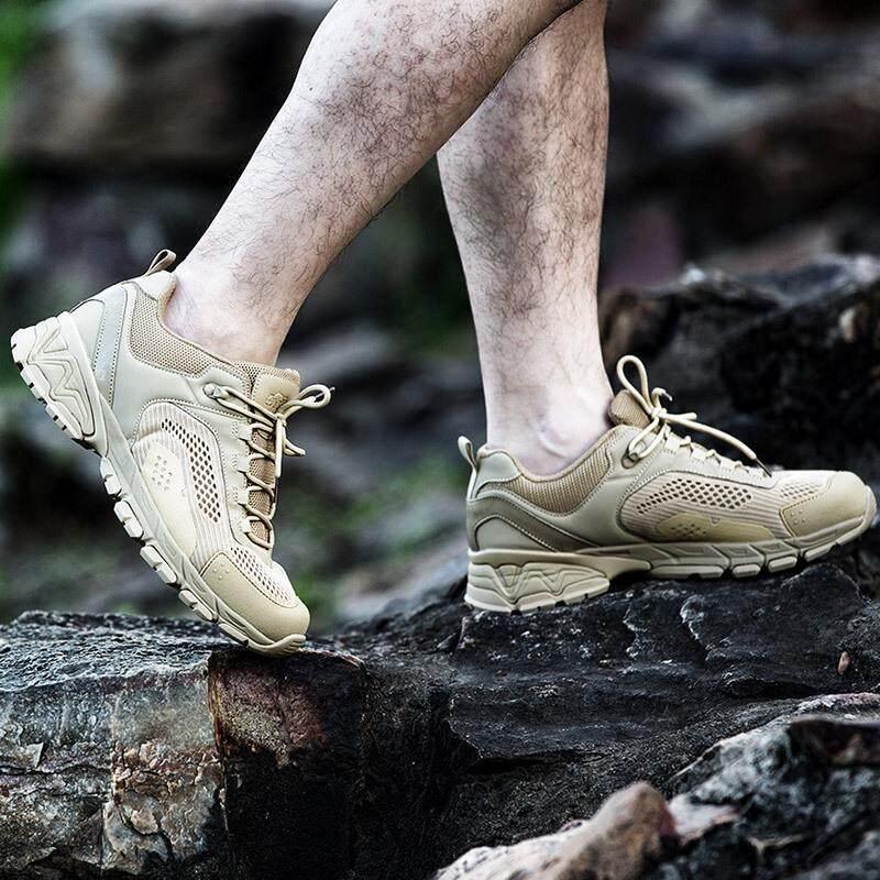 51783 ฤดูร้อนกลางแจ้งต่ำรองเท้ายุทธวิธีผู้ชาย Ultralight กองกำลังพิเศษพัดลมทหารรองเท้าลุยในทะเลทรายเดินป่ารองเท้า By Dng Xin.