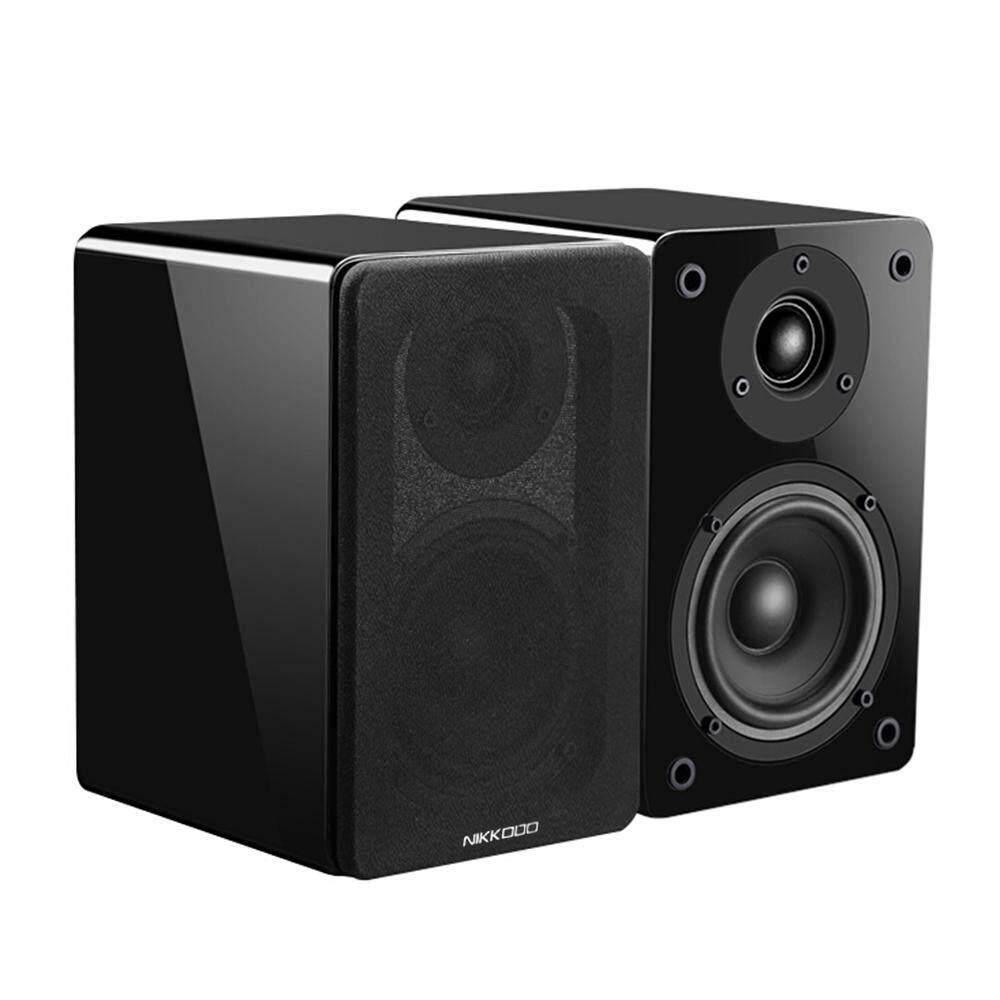"NIKKODO NK-688P Passive Bookshelf Speakers 60W*2 Home Theater Needs Amplifier 4"" Carbon Fiber Woofer Silk Dome Tweeter, 1 Pair"