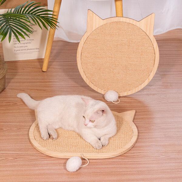 Cat Dog Gỗ Rắn Salu Mèo Grabbing Board Claw Mài Chống Trầy Xước Và Chip Bảo Vệ Sofa Hút Cup Loại Tường Đính Kèm Đồ Chơi Mèo
