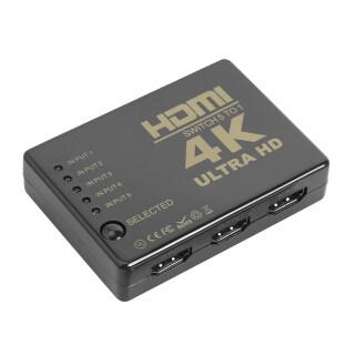Bộ Chia Công Tắc HDMI 4K 2K 5X1 Bộ Chuyển Đổi Video 5 Đầu Vào 1 Đầu Ra Với Điều Khiển Từ Xa thumbnail
