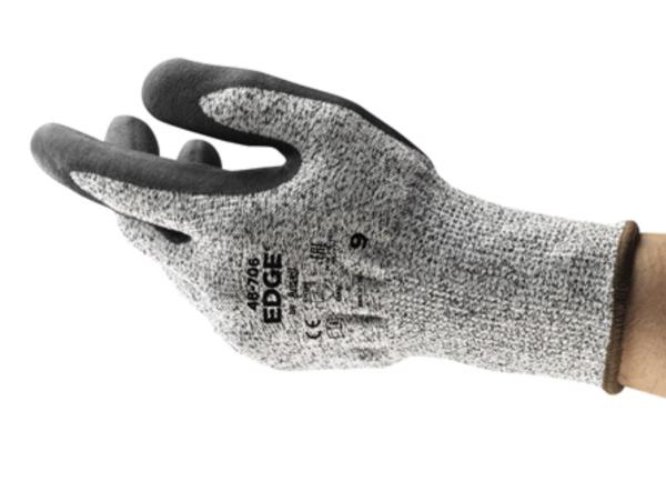 Ansell EDGE® 48-706 EN ISO Level Cut C Resistance Nitrile Coating Work Glove