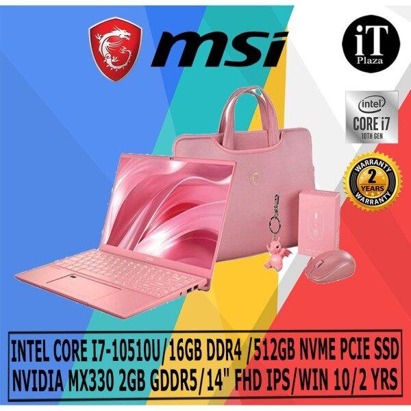 MSI PRESTIGE 14 A10RAS-086 ROSE PINK (I7-10510U/16GB DDR4 /512GB NVME SSD/NVIDIA MX330 2GB GDDR5/14 F14 FHD IPS/WIN 10) Malaysia