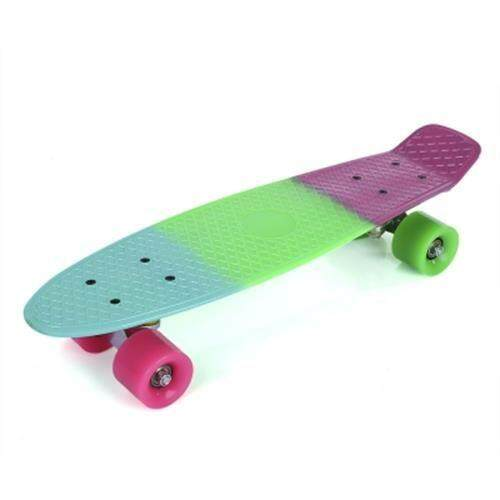 22 INCH COLORFUL FOUR-WHEEL STREET LONG PLASTIC FISH SKATEBOARD (COLORMIX)