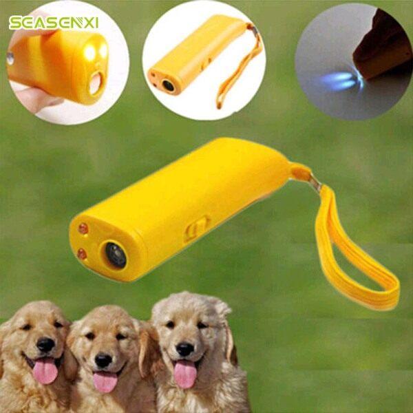 Thiết Bị Đuổi Chó Cưng, Thiết Bị Huấn Luyện Chống Sủa Huấn Luyện Viên LED Siêu Âm 3 Trong 1 Siêu Âm Chống Sủa Mà Không Cần Pin