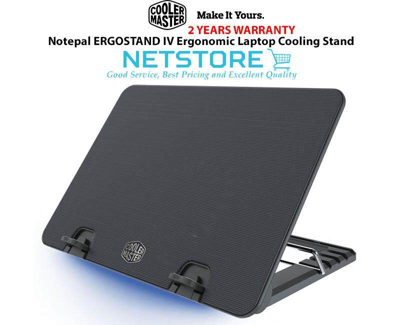 Cooler Master Notepal ERGOSTAND IV Ergonomic Laptop Cooling Stand Cooling Pad ( 140mm Silent Fan ) Malaysia