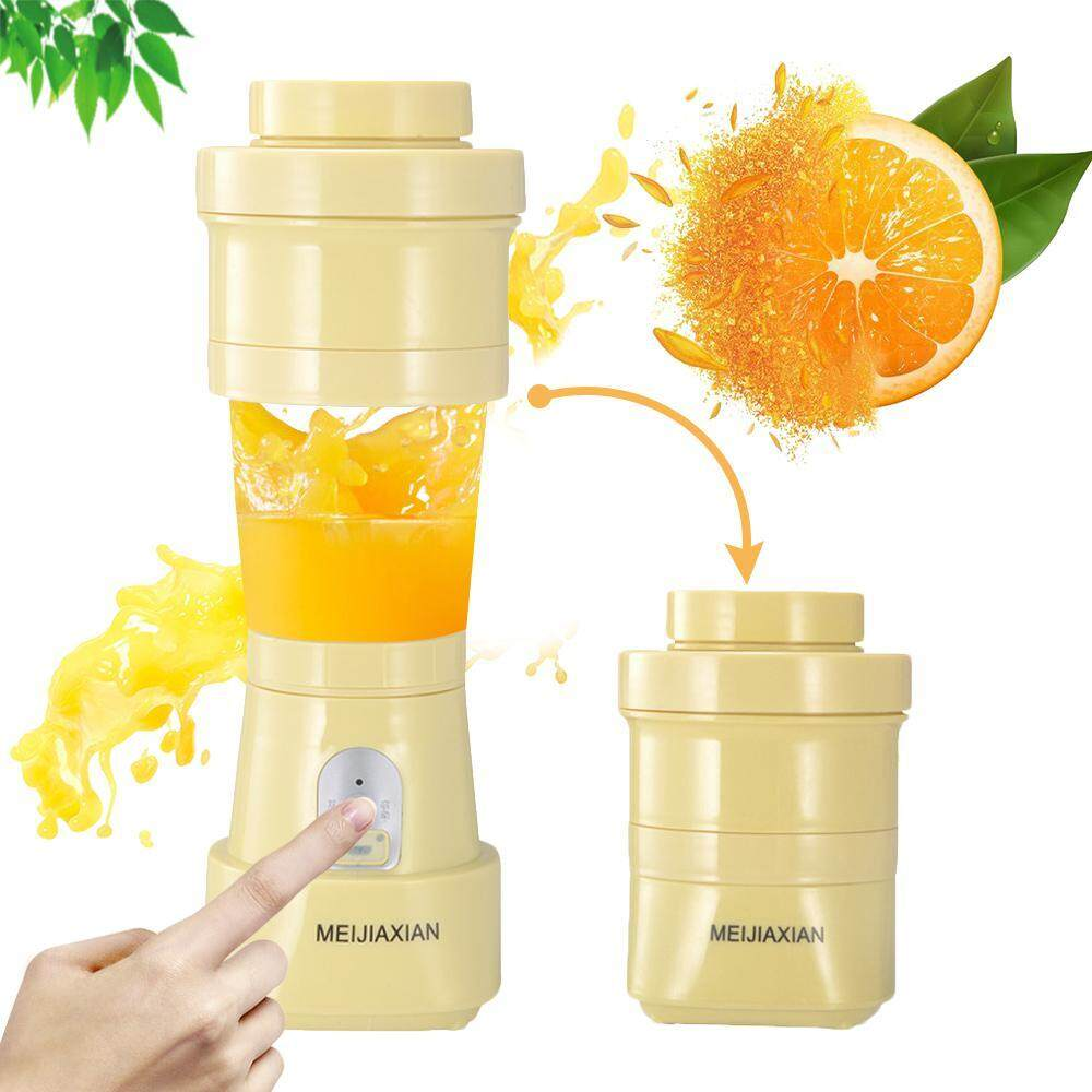 Teepao Household Mini Charging Juice Cup, Portable Silicone Telescopic Folding Juice Cup Travel Juicer