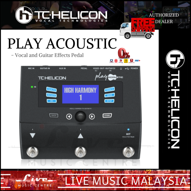 TC Helicon Play Acoustic Vocal and Guitar Effects Pedal Malaysia