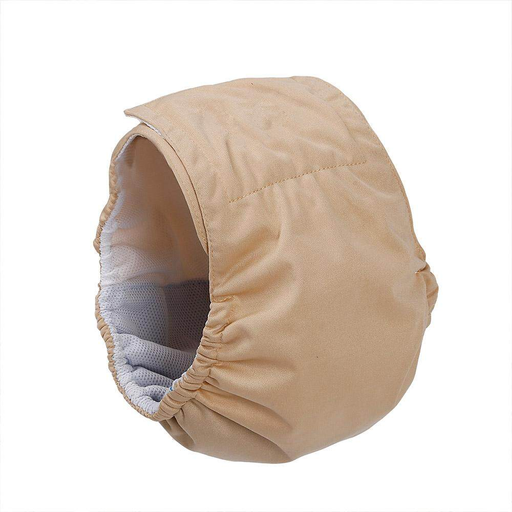 [Kitsmall] Dog Belly Band Wrap Waterproof Pet Diapers Physiological Pants  Puppy Shorts Beige -M