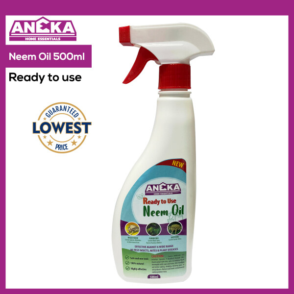 Aneka Neem Oil Spray 500ml Ready to Use Insecticide Fungicide Miticide Pesticide Herbicide