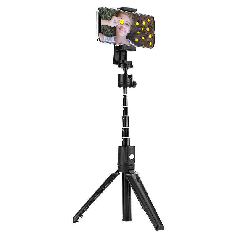 Giá Chân Máy Mini Cầm Tay Ổ Cắm Kéo Dài Cao Cấp Gậy Selfie Bluetooth Không Dây Điều Khiển Từ Xa Đa Năng Cho Android/IOS Điện Thoại Sống Selfie Hiện Vật